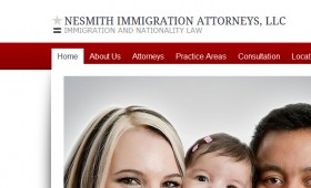 Web design Nesmith Immigration Attorney