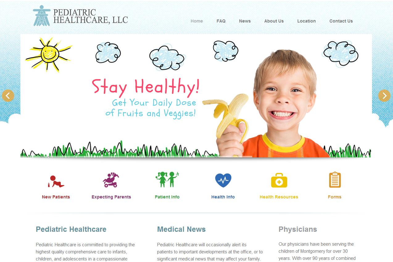 Web Design Pediatric Healthcare Web Design Montgomery Al