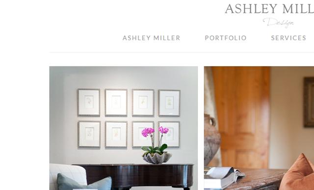 Ashley Miller Design - Web design
