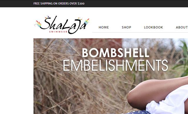 Web Design Shalaja Swimwear