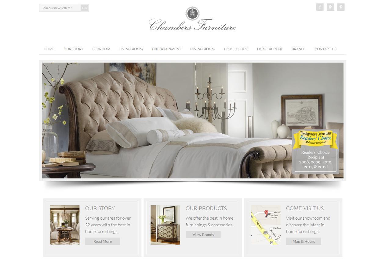Web Design Chambers Furniture